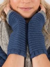 Cosy hands free cuff gloves by Ally Bee in cashmere merino