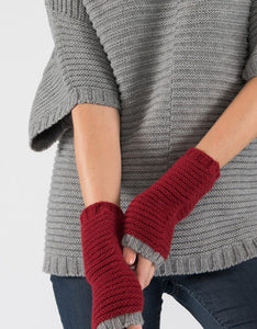 Fingerless Cuff Gloves - eco-certified cashmere merino