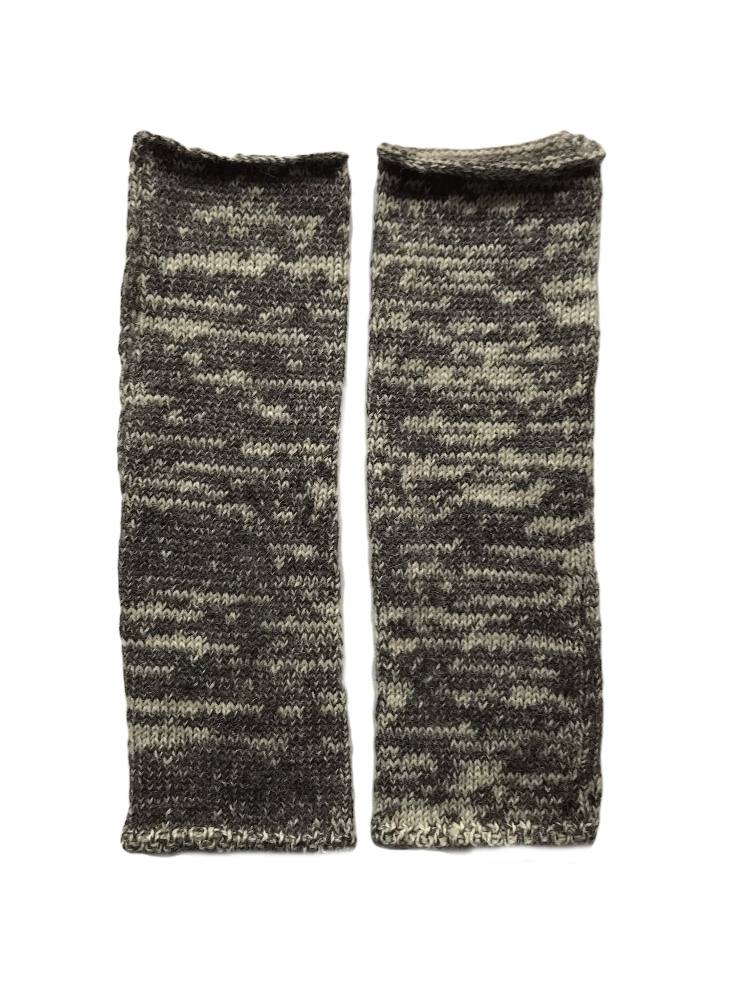Charcoal Marl British Alpaca Gloves in softest natural yarn by Ally Bee Knitwear