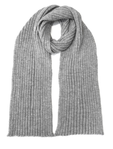 Pure Alpaca Scarf - 100% British Alpaca, grey mid-length