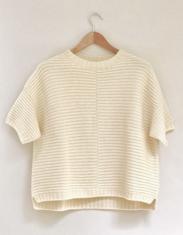 Poncho Jumper in British Wool ecru cream by Ally Bee