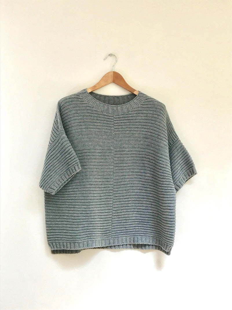 Ladies Grey Poncho Jumper in cashmere merino by Ally Bee