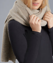 Pure British alpaca scarf throw by Ally Bee wrapped snug