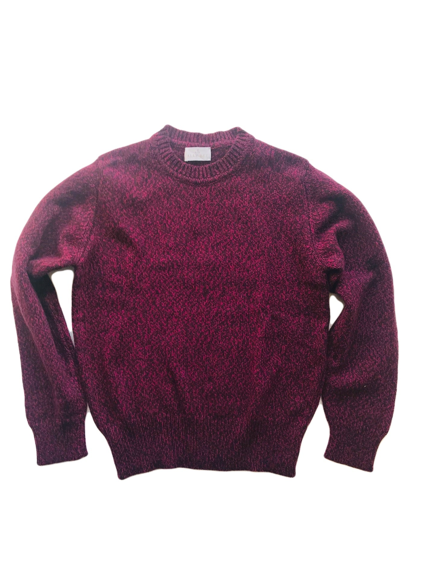 Purple flecked pink cashmere sweater from Ally Bee Knitwear