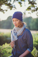 Bramble bee beanie hat in Navy by Ally Bee