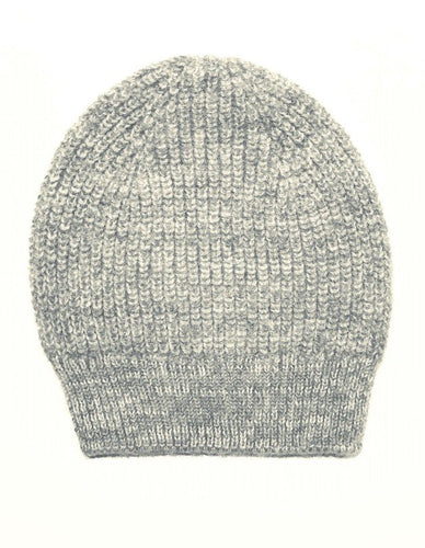 Beanie Hat - wool and alpaca, grey marl