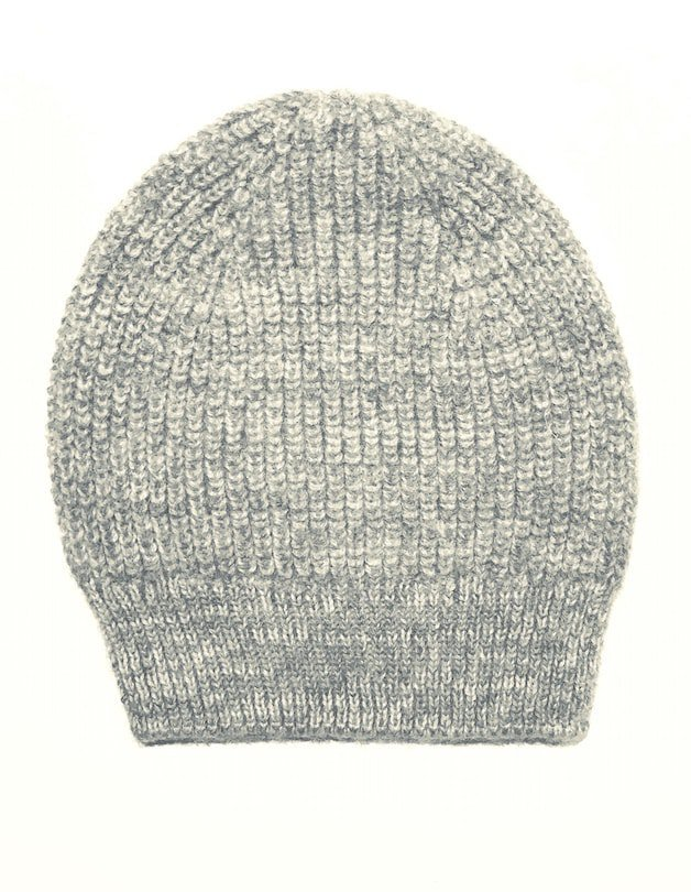 Alpaca & Wool grey marl beanie hat from Ally Bee