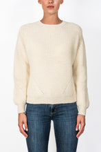 Fireside Jumper - Crew neck, Wool, Cream