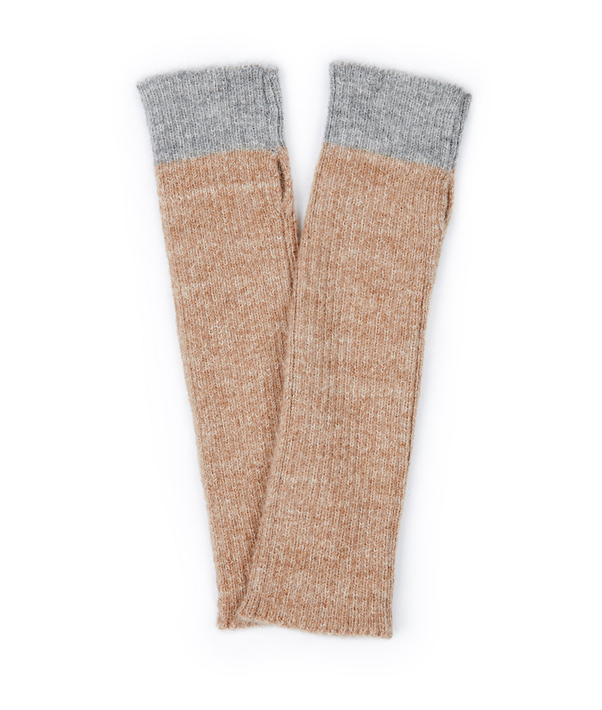 Alpaca wool gloves in brown with grey palms from Ally Bee