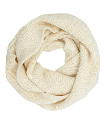 Fireside Snood - Alpaca & Wool Scarf, Cream, Chunky Knit