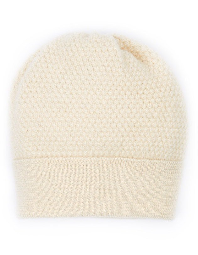 Bramble Bee Beanie hat in undyed British wool by Ally Bee