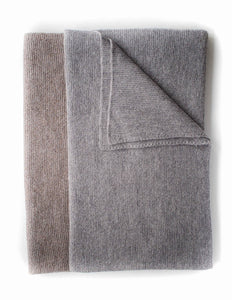 Blanket Throw - Alpaca, Taupe & Grey