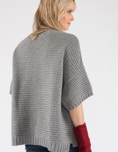 Ally Bee Poncho jumper in cashmere merino eco yarns