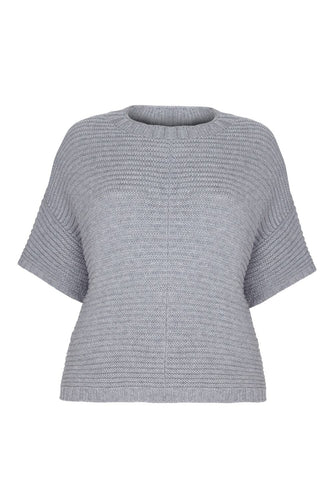 Poncho Jumper - Cashmere Merino CRADLE TO CRADLE® yarn, Grey