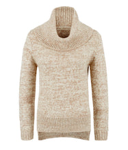 Roll neck alpaca jumper - brown marl by Ally Bee