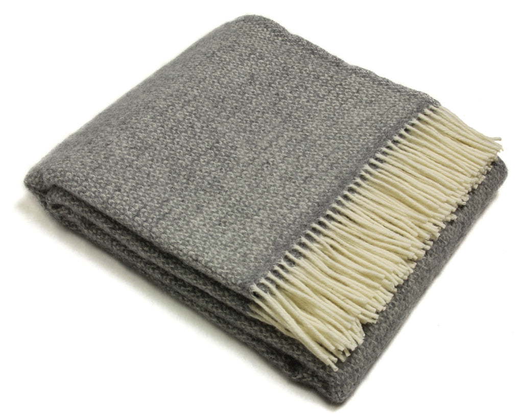Tweedmill Throw Blanket - Pure New Wool - Illusion (Gray)