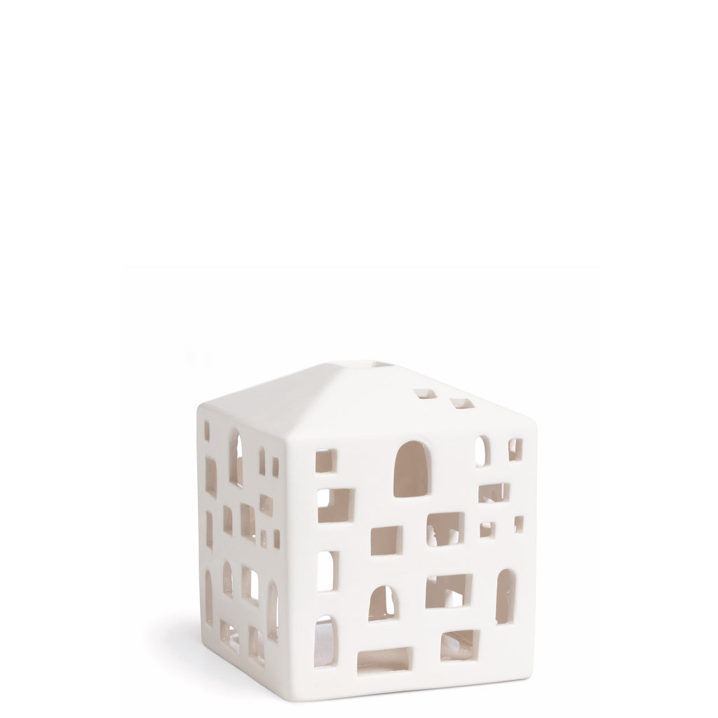Kahler Urbania Tea Light House - Ceramic Candle Holder - City House