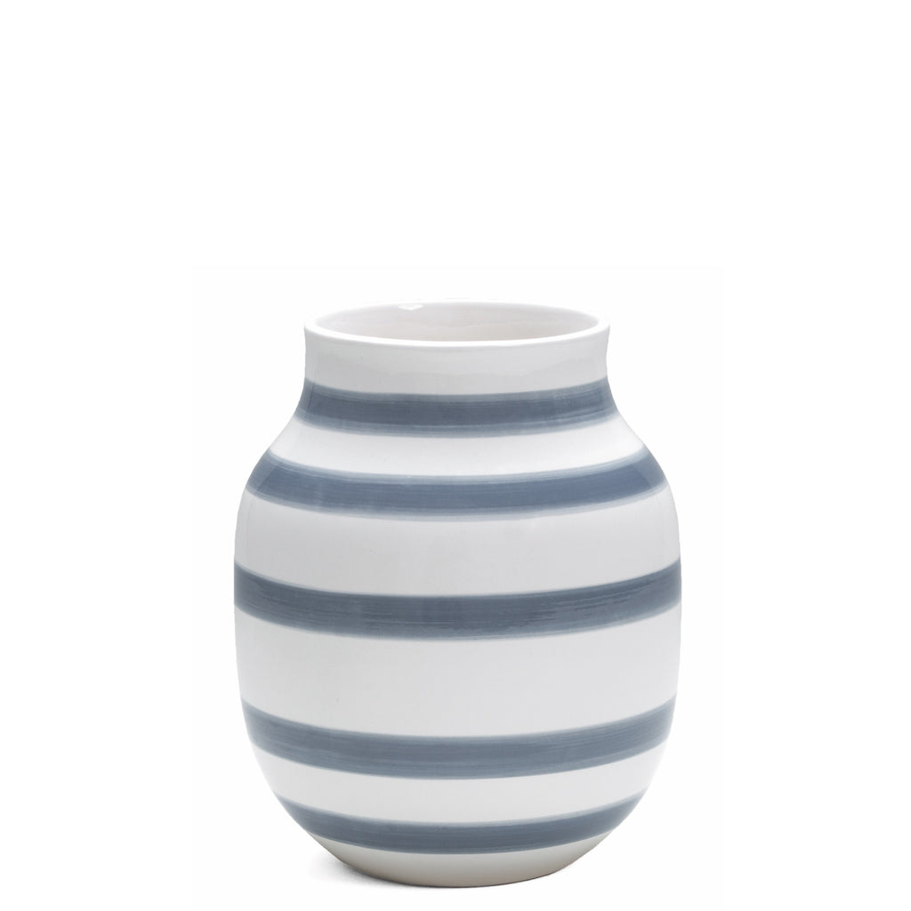 Kahler Omaggio Medium Ceramic Vase - White / Light Blue