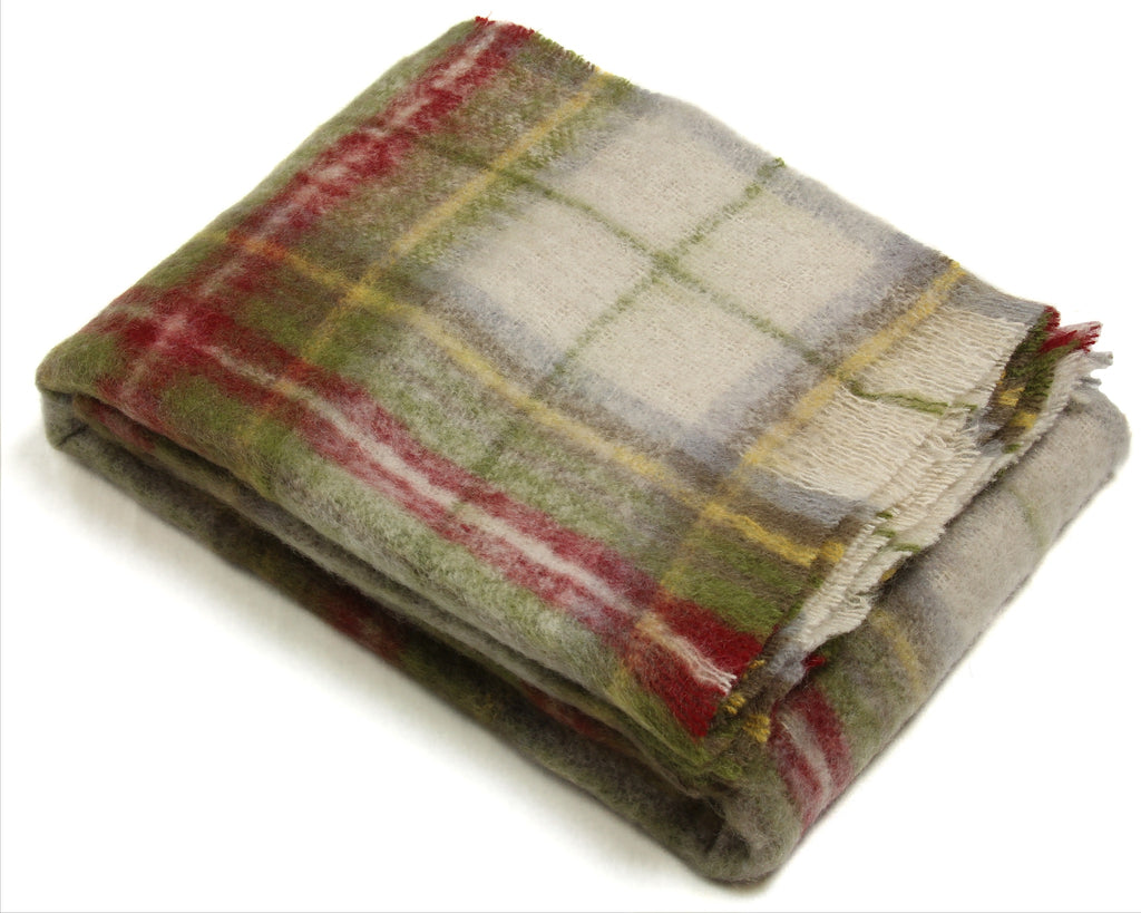 Mohair Throw Blanket by Cape Mohair (Highlander plaid)