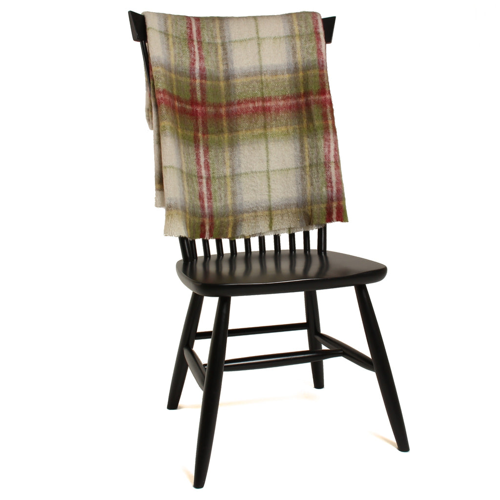 Mohair Throw Blanket in Highlander Plaid - Clearance