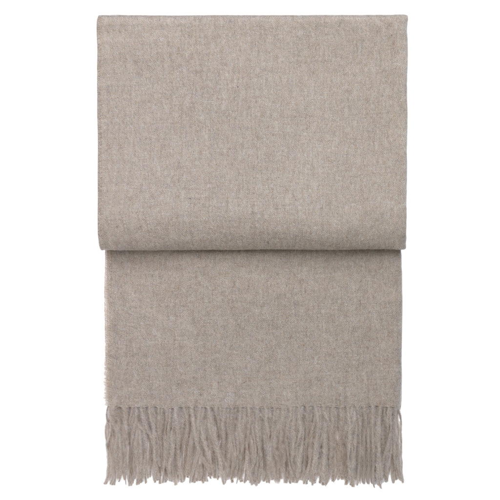 Elvang Classic Alpaca & Wool Throw Blanket (Beige)