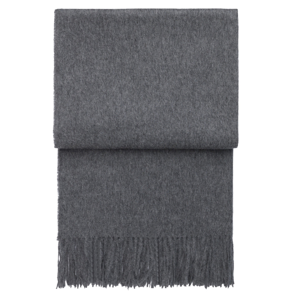 Elvang Classic Alpaca & Wool Throw Blanket (Gray)