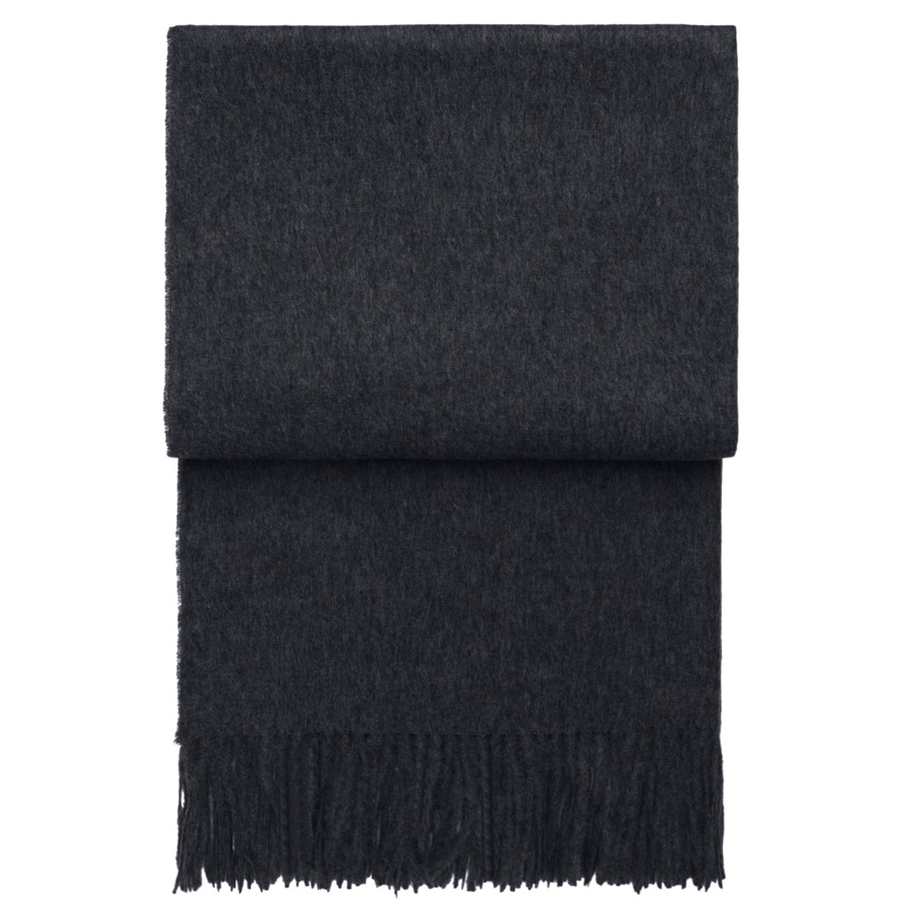 Elvang Classic Alpaca & Wool Throw Blanket (Dark Gray)
