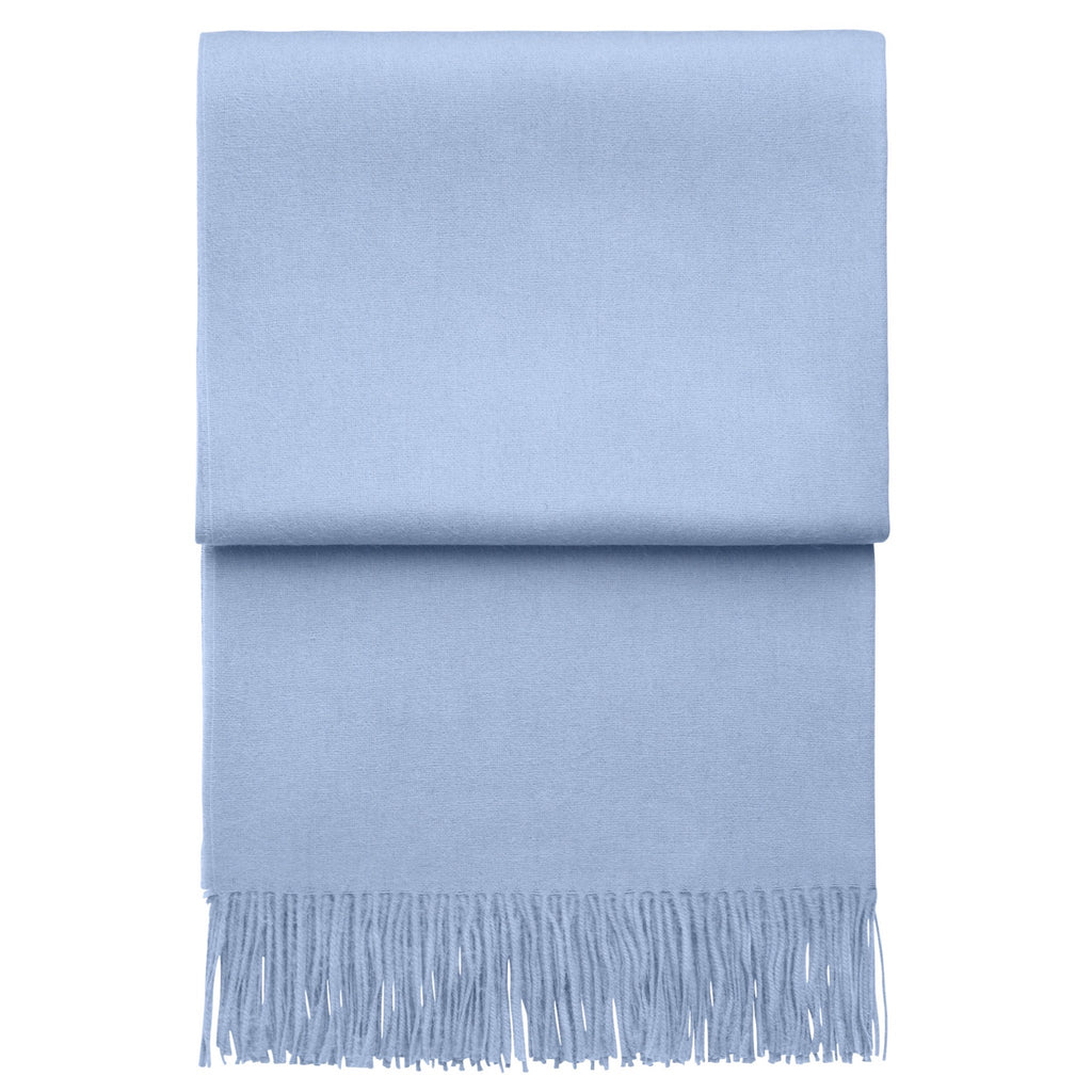 Elvang Classic Alpaca & Wool Throw Blanket (Atlantic - Light Blue)