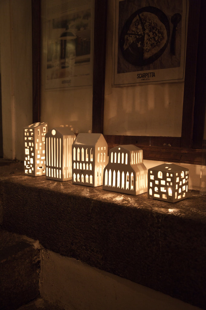 Urbania Ceramic Candle Holder in Town House