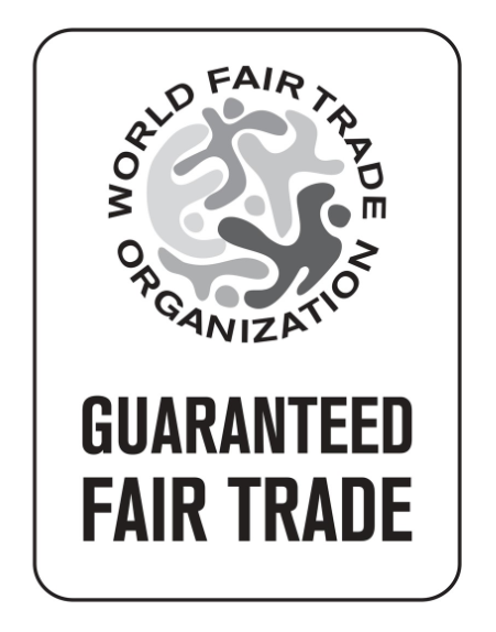 Certification from the World Fair Trade Organization that this product is guaranteed fair trade.