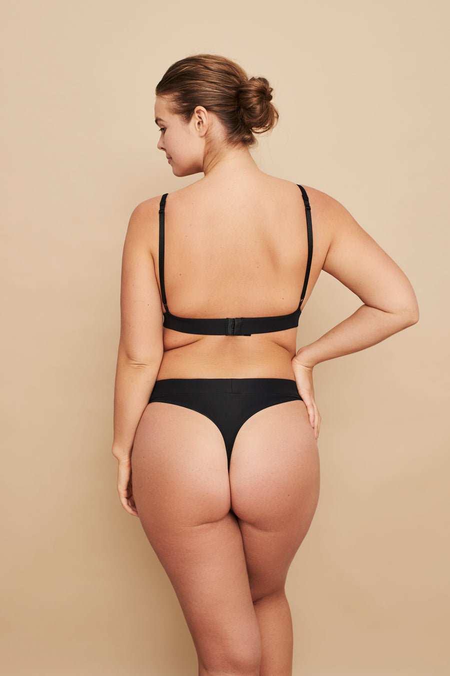 BLOOM HIGH WAIST THONG IN CHAMPAGNE
