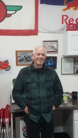 Don Emder Racer Author AMA Hall Of Fame Inductee Book Signing at Superbikecorse motorcycle store superbike corse motorcycle gear shop with motorcycles for sale