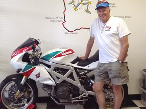 Peter Starr friend of SuperbikeCorse motorcycle gear shop sportbike