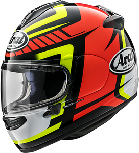 ARAI DT X PACE RED YELLOW Motorcycle Helmet