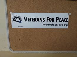 Veterans For Peace Bumper Sticker