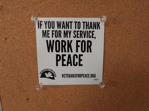 'Work For Peace' Sticker