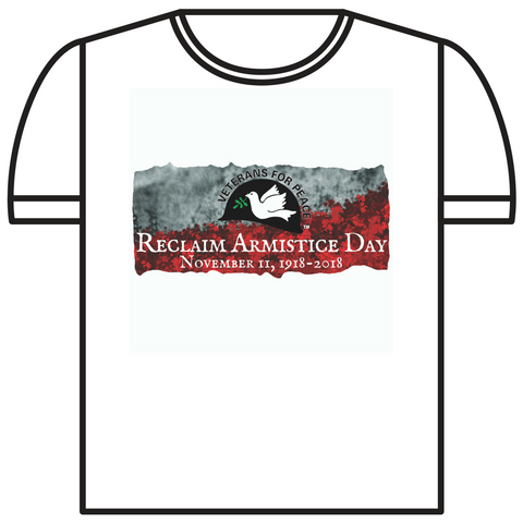 Reclaim Armistice Day T-Shirt - Crew neck style (White or Asphalt Grey)