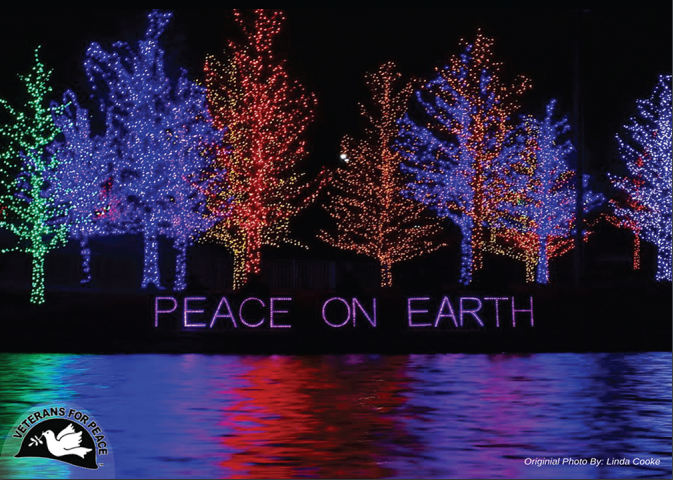 peace on earth holiday cards 10 pack veterans for peace online store