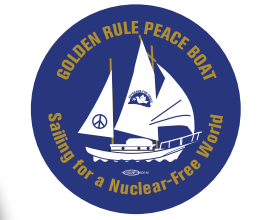 Golden Rule Peace Boat Button