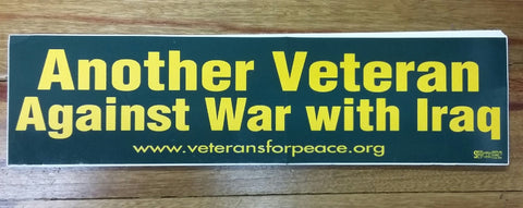 'Against War with Iraq' Bumper Sticker