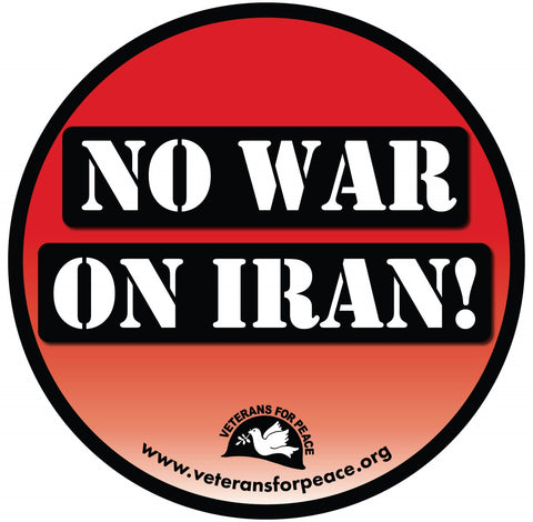 No War On Iran! Button