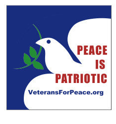 'Peace Is Patriotic' Sticker