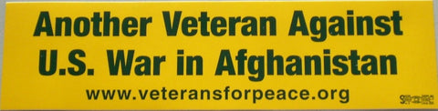 'Against U.S. War in Afghanistan' Bumper Sticker