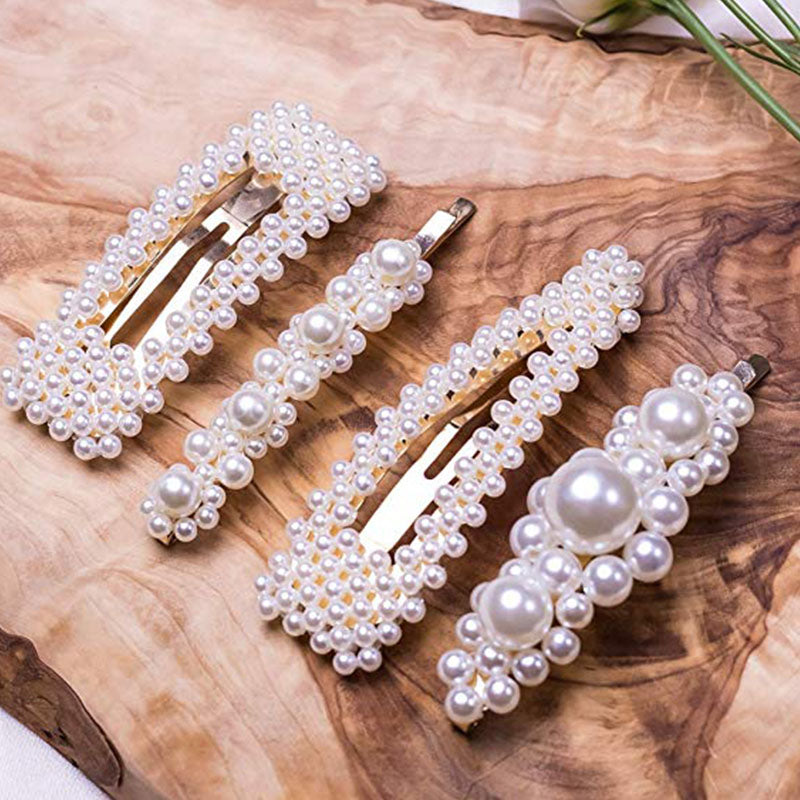 Hair Accessories 4pcs Big Pearl Hair Pins Decorative Barrettes