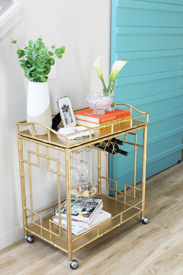 Customer Spotlight: Malia Palma's Beautiful Bar Cart & Lovely Linens
