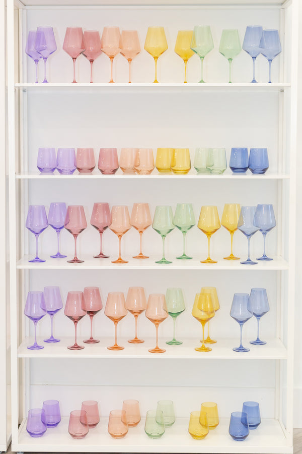 One in Every Color Please 🌈 🍷 Estelle Colored Glass Pop-Up