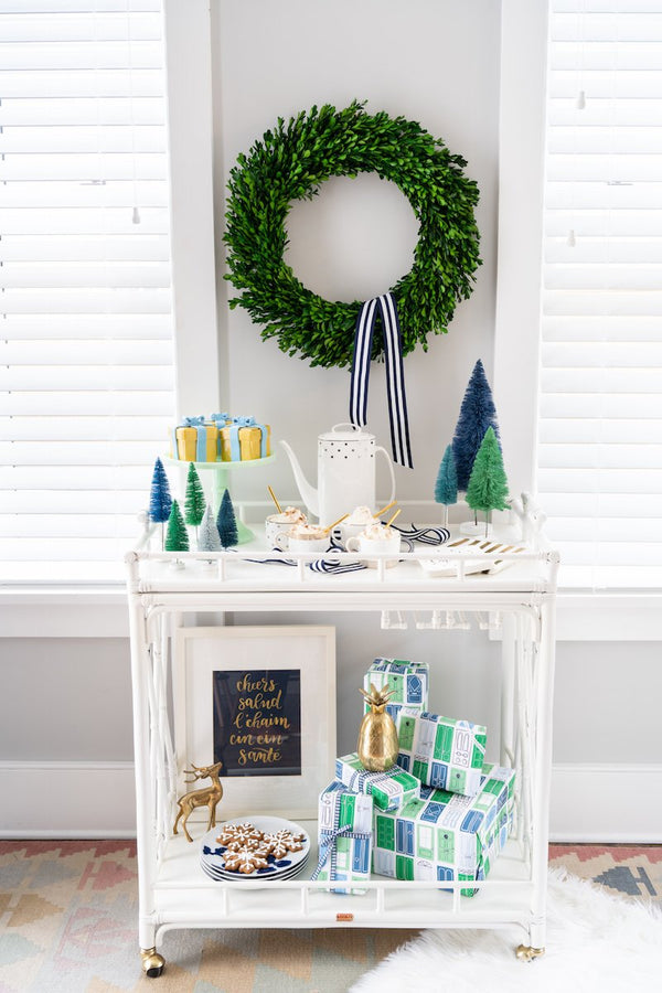 Holiday Spotlight Series No. 5 🎄 A Blue & White Boozy Bar Cart With Liz Martin!