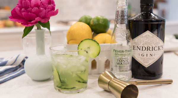 Drinks With Roxy: Gin Basil Cucumber Smash Cocktail