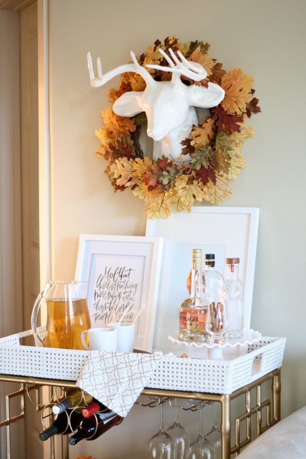 {Blog Love} Make Your Own Apple Cider Bar Cart with Sprinkle of Glam