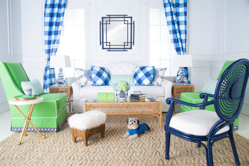 Blue, Green, and Gingham